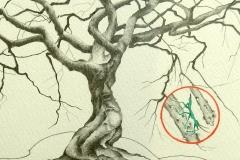 """""""Alcina et Alf"""" Mine sur papier 25x18 cm"""