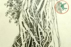 """""""Bosco et Zilla"""" Mine sur papier 25x18 cm"""