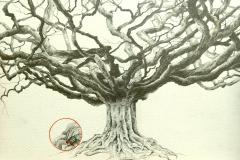 """""""Wald et Mélia"""" Mine sur papier 25x18 cm"""