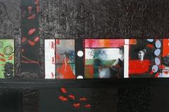 """""""Séquences"""" Huile sur Toile 60x120 cm"""
