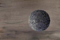 """""""Planète 1"""" Techniques mixtes sur papier 15x21 cm"""