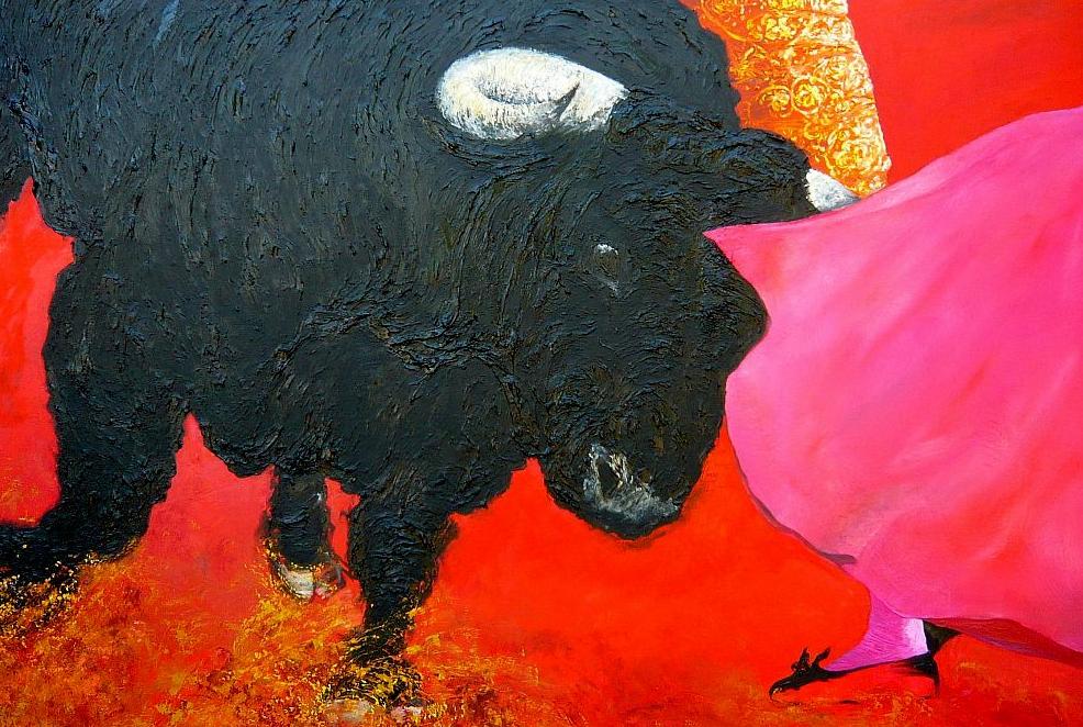 """Toro I"" Huile sur Toile 114x162 cm"